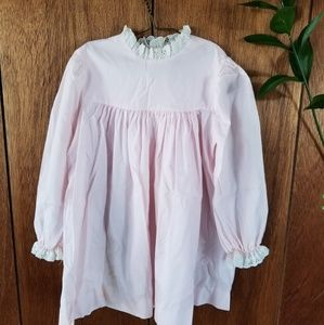 Vintage Byran Pink Babydoll Lace Collar Dress